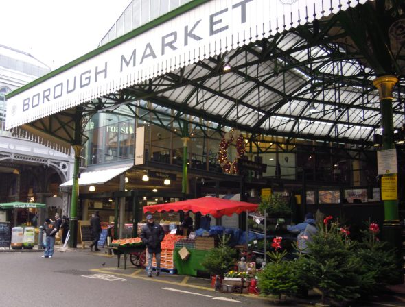 The famous Borough Market in London, England.
