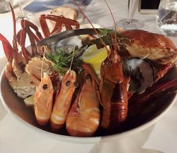 Seafood dinner on Lizard Island, Australia