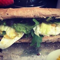 Egg Salad Sub, with home made dressing!