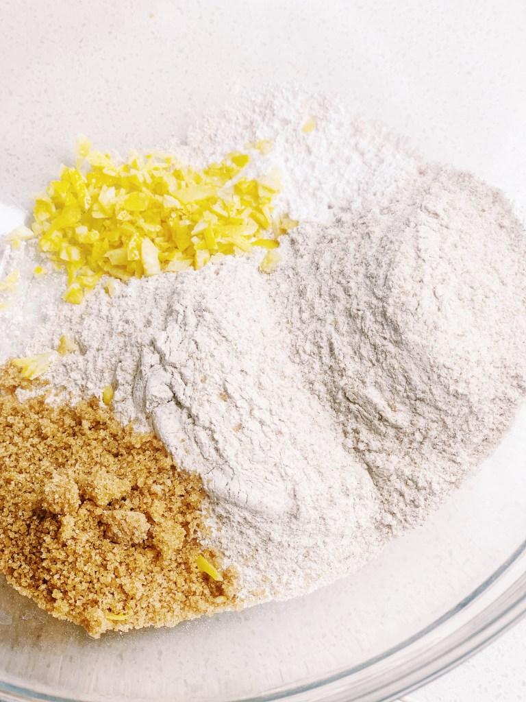 Lemon Ricotta Pancakes dry ingredients