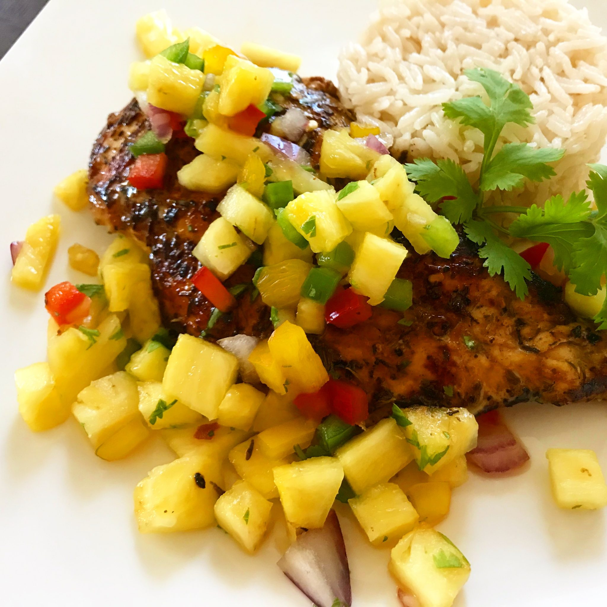 Jerk Chicken with Pineapple Salsa