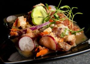 ceviche mixto, chef rosie, provecho grill, mexican inspired recipes, calimex food, calimex restaurant, latina chef