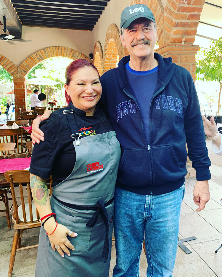 chef rosie, vincente fox, chefs latinos, mexico chef, latina chef, celebrity chef, food network contestant