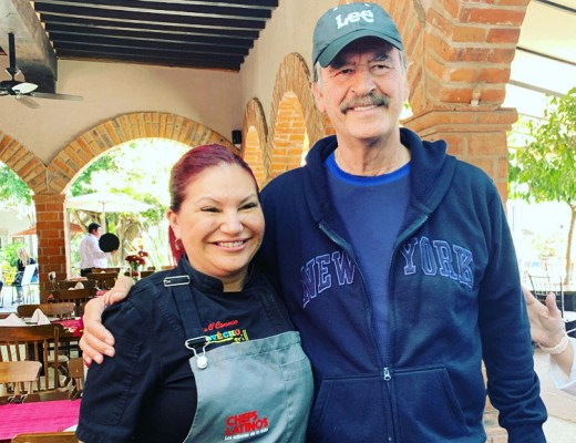 president vincente fox, chef rosie, provecho grill, latina chef, chefs latinos, mexico chefs