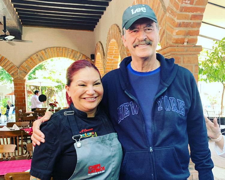 president vincente fox, chef rosie, provecho grill, latina chef, chefs latinos, mexico chefs