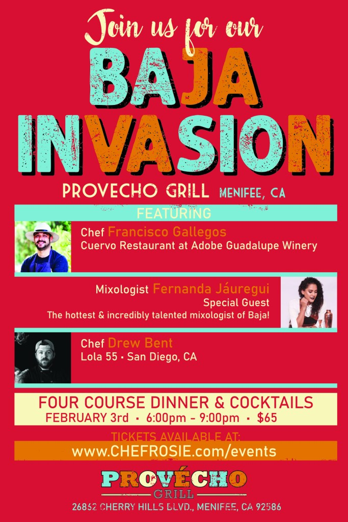 provecho grill, baja invasion, menifee california, mexican chefs, find dining, calimex cuisine, get tickets, socal latino chefs, chefs latinos