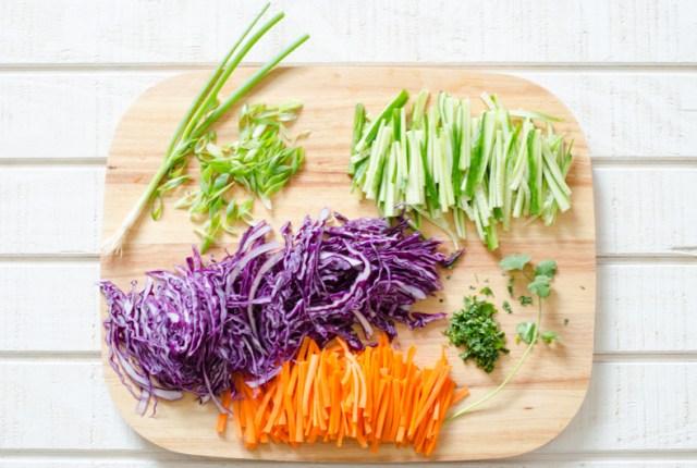 Fresh Vegetable Slaw recipe from ChefSarahElizabeth.com