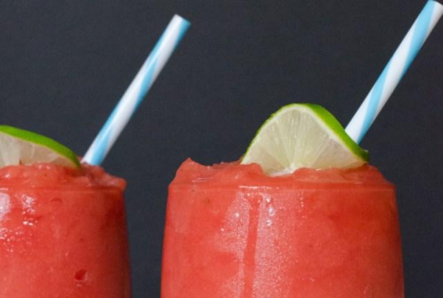 Frozen Watermelonade recipe from ChefSarahElizabeth.com