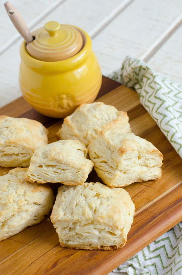 Flaky Butter Biscuits recipe from ChefSarahElizabeth.com