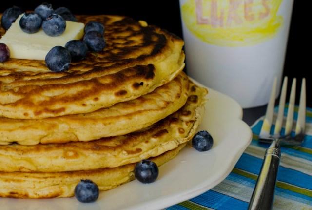 Blueberry Pancakes recipe from ChefSarahElizabeth.com