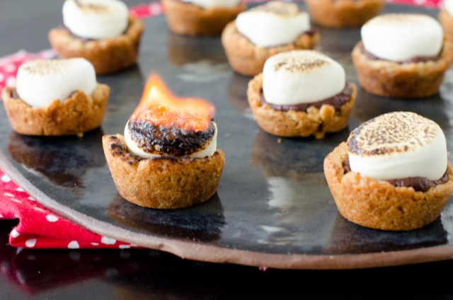 S'mores Cookie Cups recipe from ChefSarahElizabeth.com