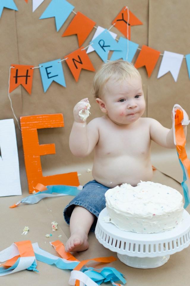 Henry's Smash Cake from ChefSarahElizabeth.com