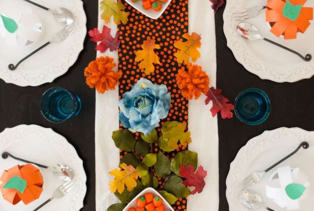 The Pumpkin Runner Tablescape from ChefSarahElizabeth.com
