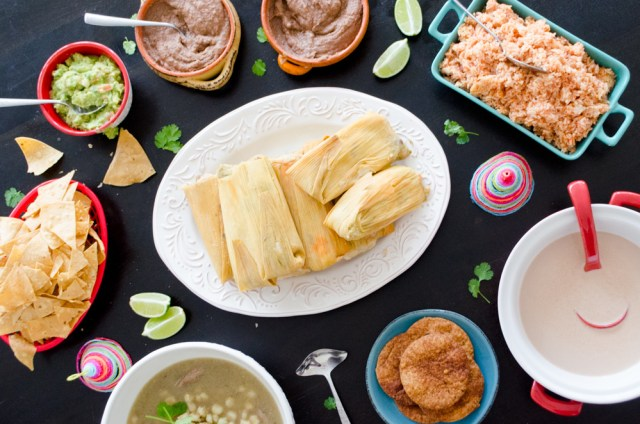 Too Many Tamales family dinner menu from ChefSarahElizabeth.com