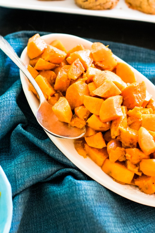 Candied Sweet Potatoes recipe from ChefSarahElizabeth.com