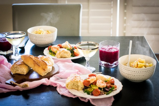Mother Daughter Date Night menu from ChefSarahElizabeth.com