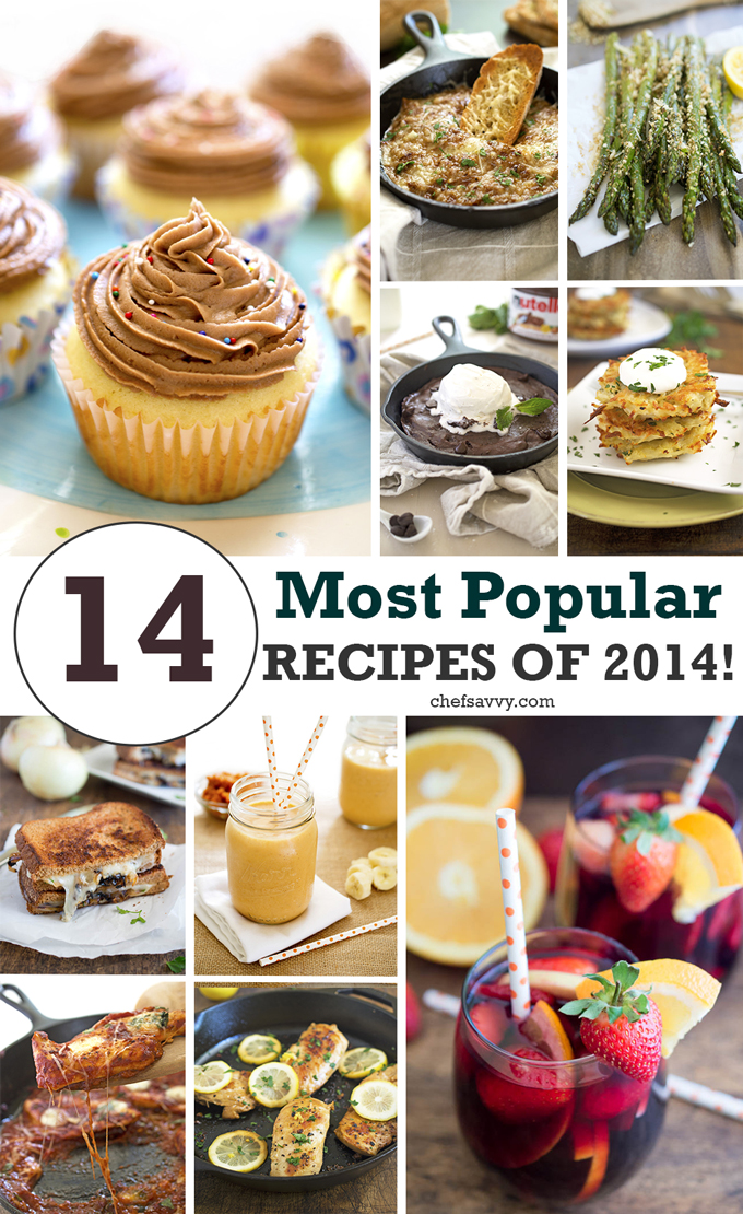 14 Top Recipe of 2014 on Chef Savvy | chefsavvy.com #food #recipes #appetizers #desserts