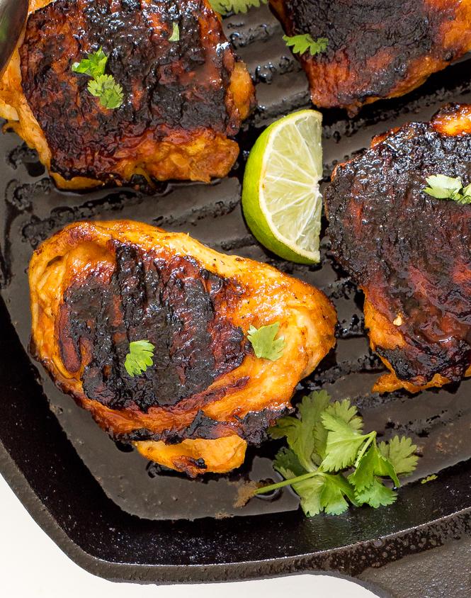 Pan Fried Sriracha Chicken | chefsavvy.com
