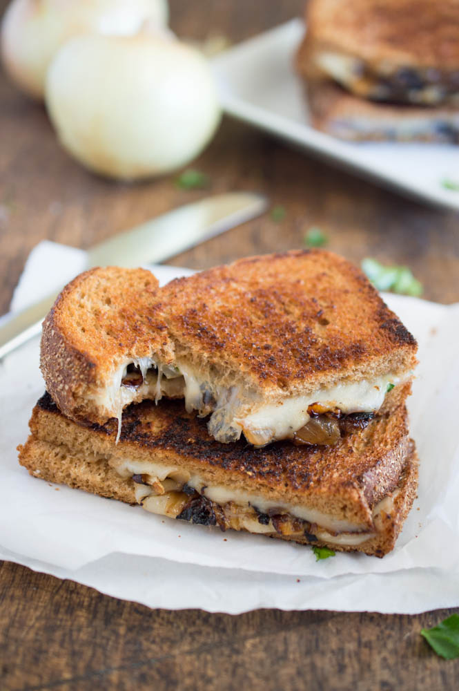 Easy French Onion Grilled Cheese