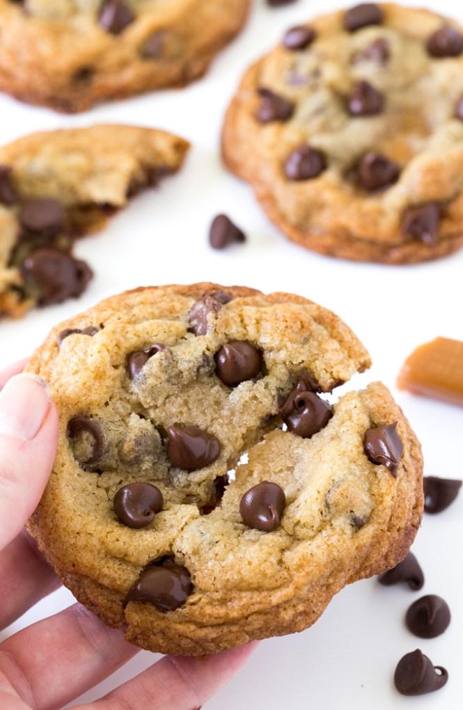 The BEST Caramel Stuffed Cookie | chefsavvy.com