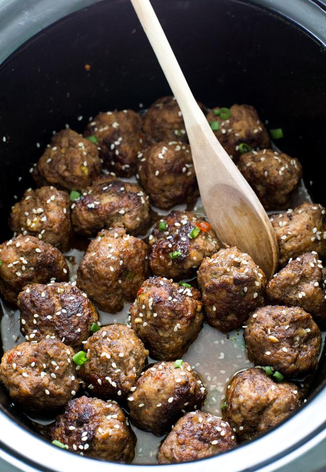 Asian Sesame Meatballs | chefsavvy.com