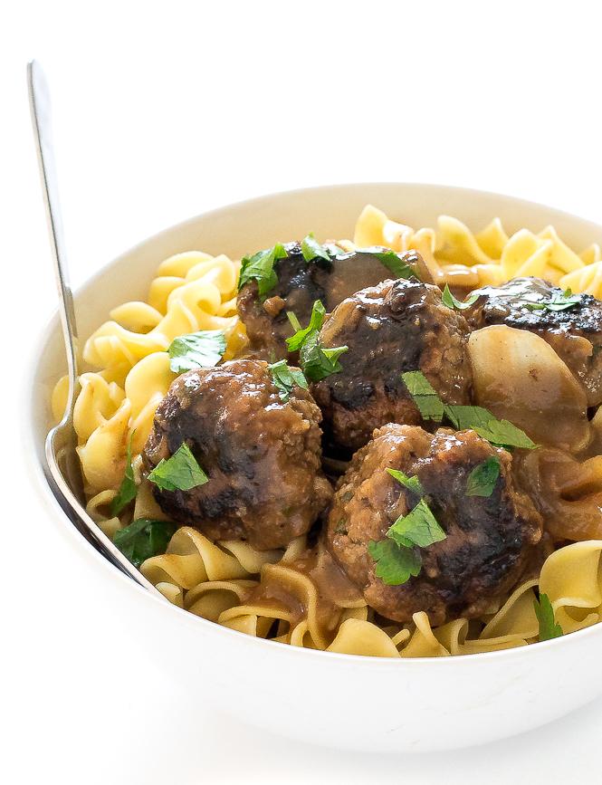 Salisbury Beef Meatballs | chefsavvy.com