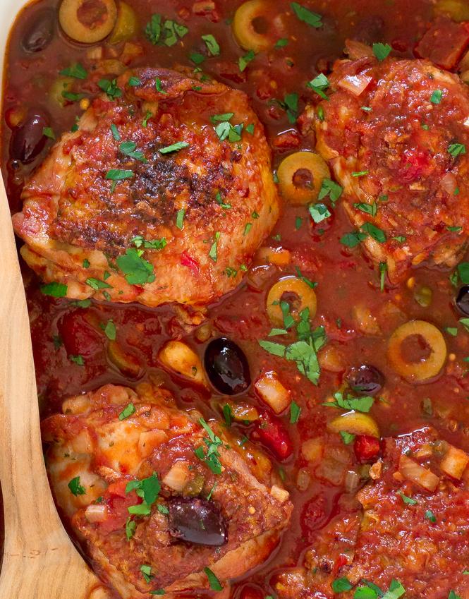 30 Minute Chicken Puttanesca | chefsavvy.com