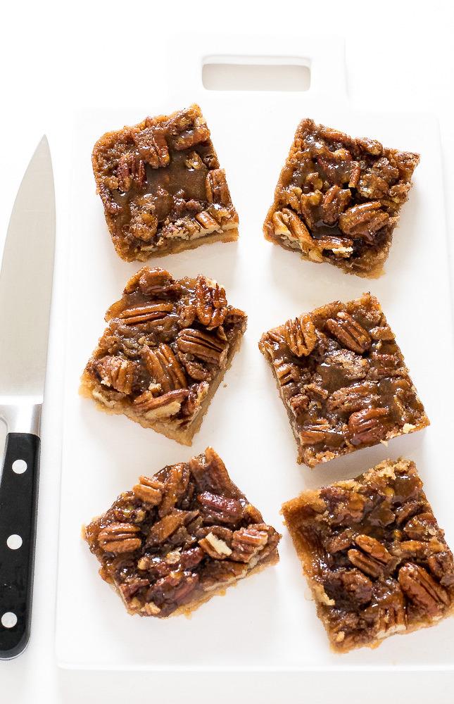 pecan pie bars thanksgiving menu