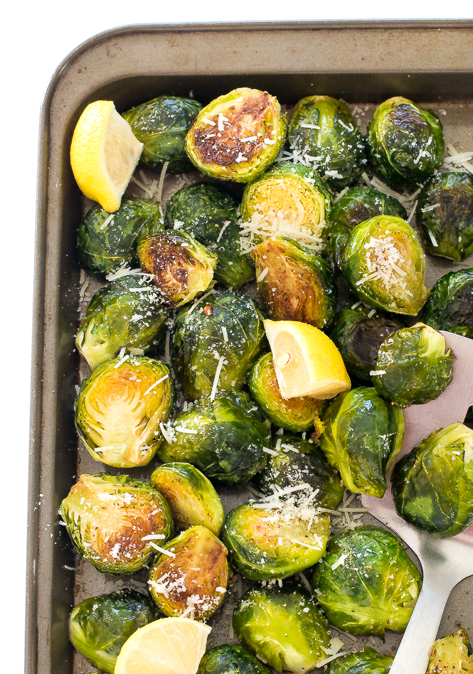 Roasted Garlic Brussels Sprouts | chefsavvy.com