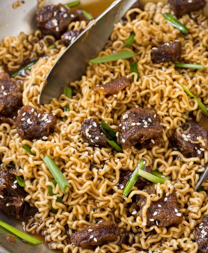 Mongolian Beef Ramen | chefsavvy.com