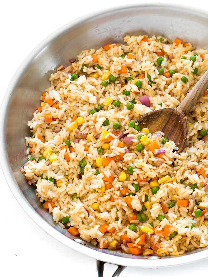 Easy Vegetable Fried Rice Recipe | chefsavvy.com