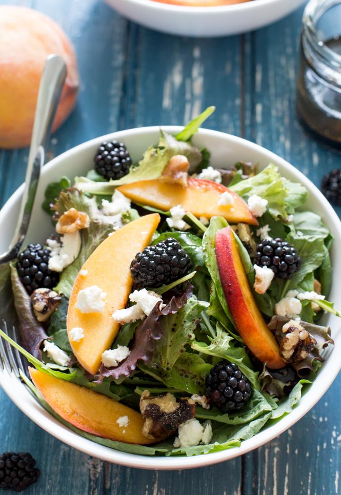 Blackberry Peach Feta Salad