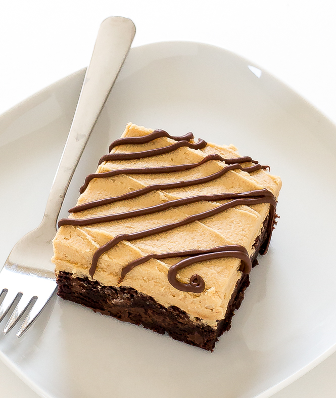 Peanut Butter Frosted brownie