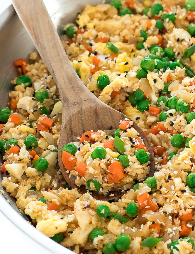 Cauliflower Fried Rice Stir Fry | chefsavvy.com