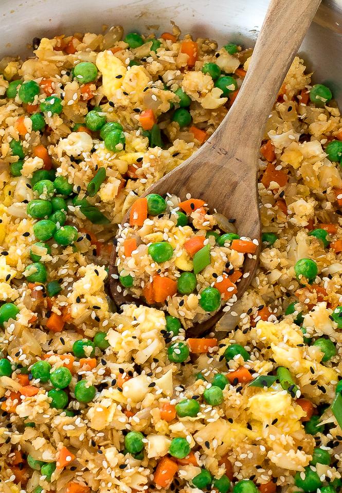Cauliflower Fried Rice | chefsavvy.com
