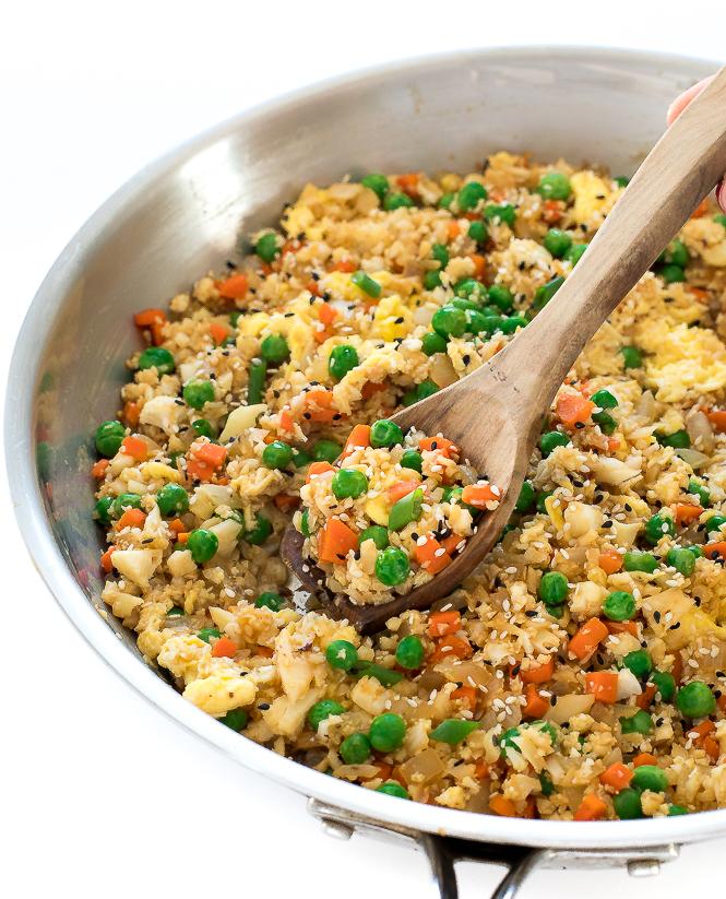 Cauliflower Rice Stir Fry | chefsavvy.com
