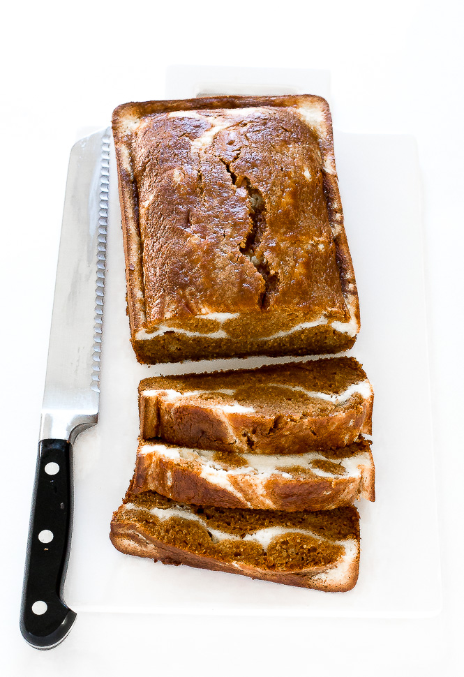 Pumpkin Cream Cheese Bread | chefsavvy.com