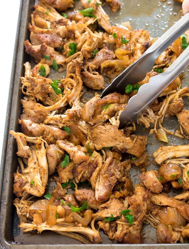 Crispy Instant Pot Chicken Carnitas | chefsavvy.com