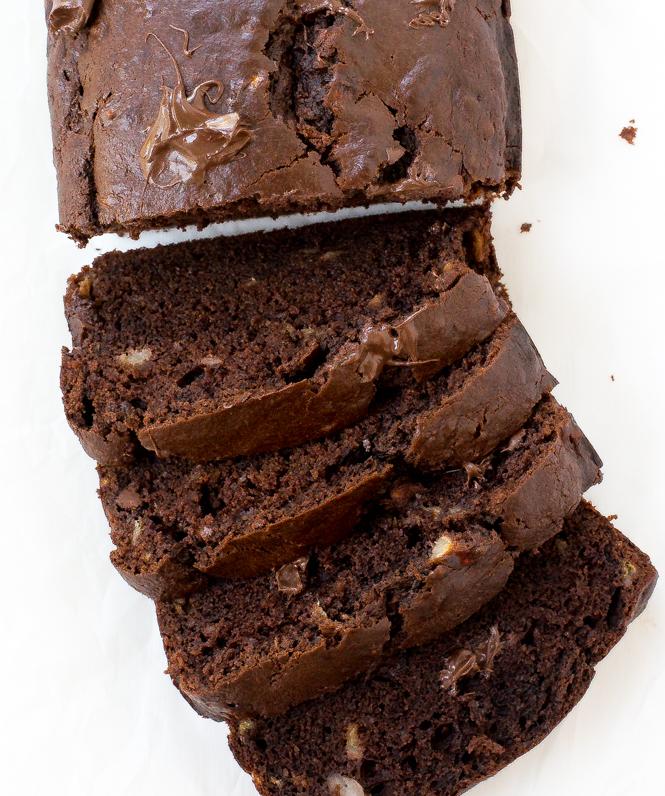 Double Chocolate Banana Bread | chefsavvy.com