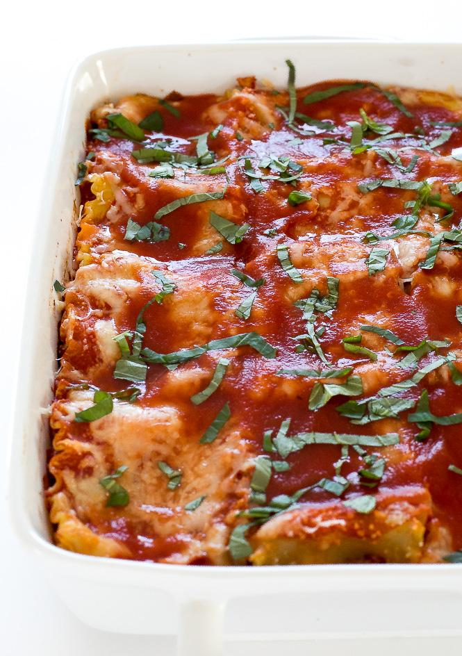 Baked Lasagna Roll Ups | chefsavvy.com