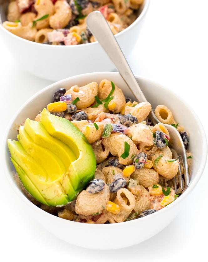 Mexican Pasta Salad | chefsavvy.com