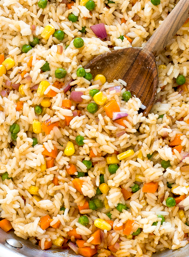Authentic Vegetable Fried Rice Recipe | chefsavvy.com