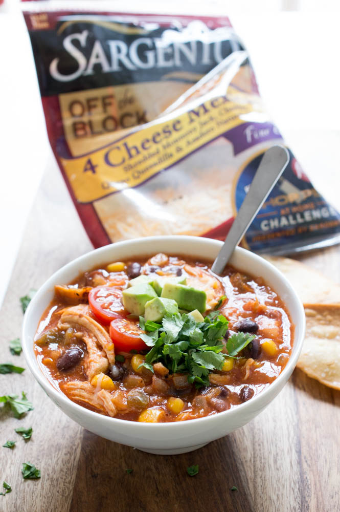 Chicken Enchilada Soup with Couscous | chefsavvy.com