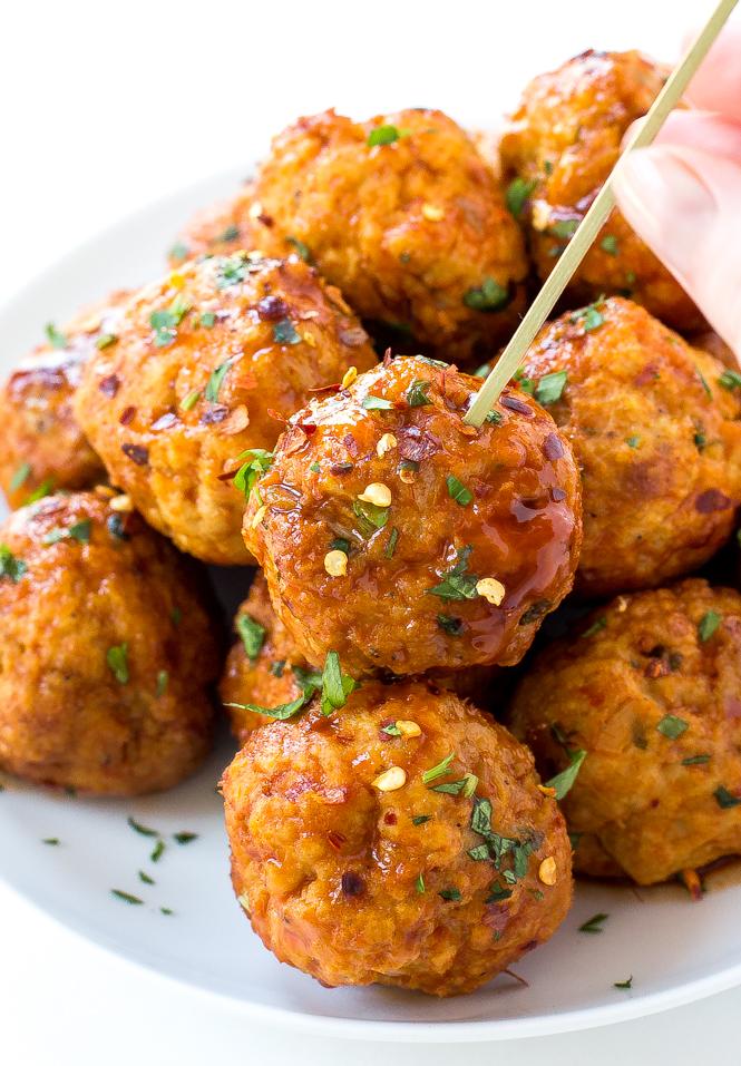 Firecracker Meatballs | chefsavvy.com