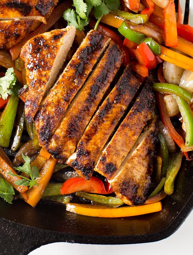 grilled-chicken-fajitas how to make chicken fajitas recipe