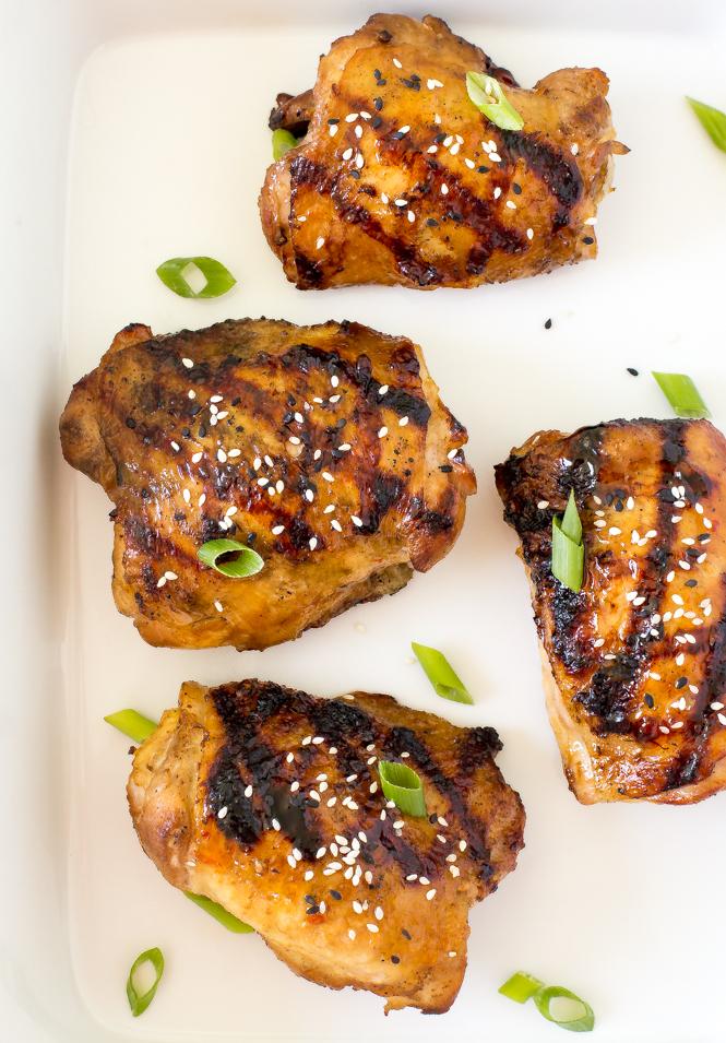 Korean Grilled Chicken Thighs | chefsavvy.com
