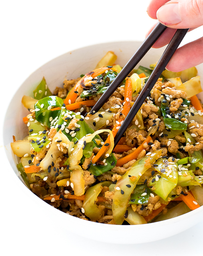 Egg Roll in a Bowl   chefsavvy.com