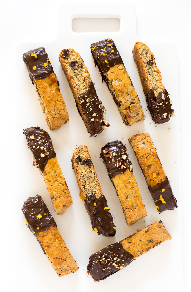 Orange Chocolate Chip Biscotti