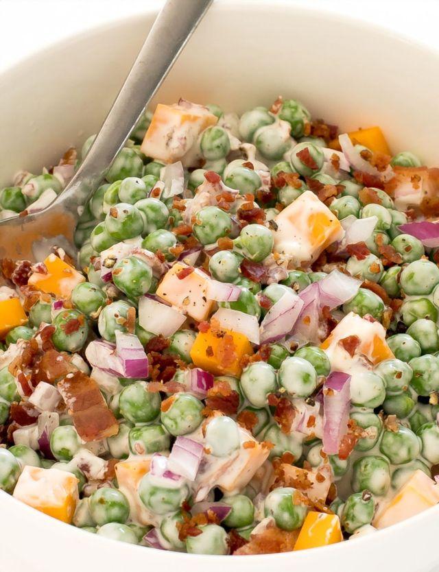 How To Make Homemade Pea Salad | chefsavvy.com