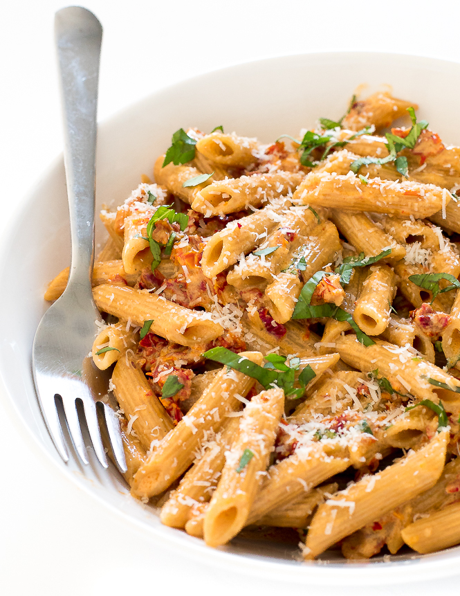 Penne alla Vodka with Sun dried Tomatoes | chefsavvy.com